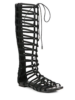 Falacia Suede Lace-Up Gladiator Sandals