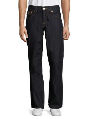 TRUE RELIGION Straight-Fit Flap-Pocket Jeans in Dark Wash