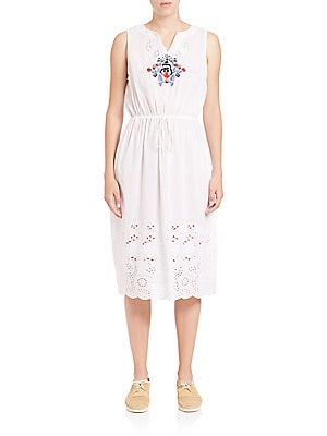 Embroidered Laser-Cut Dress