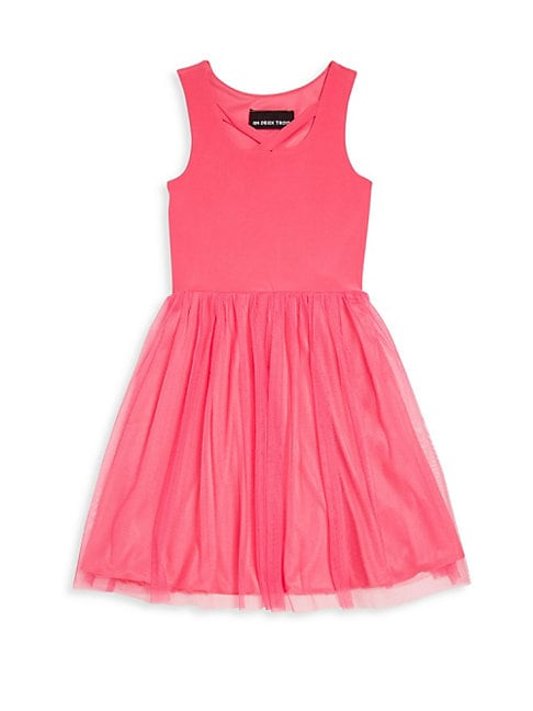 Little Girl's & Girl's Pleated Sleeveless Frock
