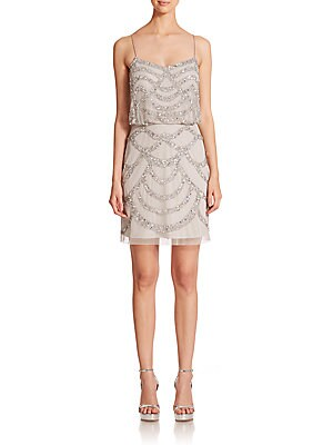 Sequined Blouson Bridesmaid Dress