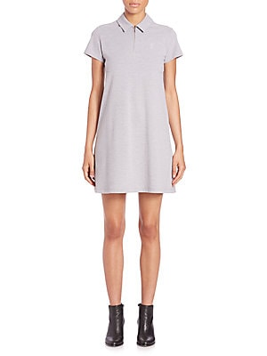 Pique Short-Sleeve Polo Dress