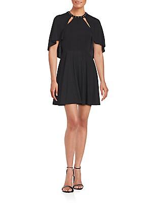 abs by allen schwartz female studded roundneck dress