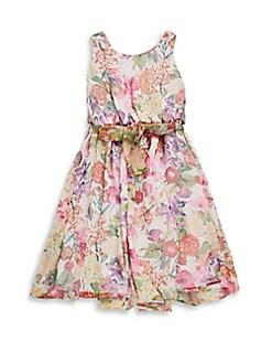 Helena - Little Girl's & Girl's Floral Dress
