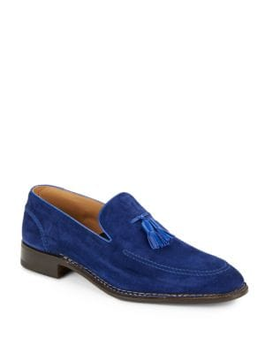 DI BIANCO Norvegese Hand Made Suede Loafers in Pacific