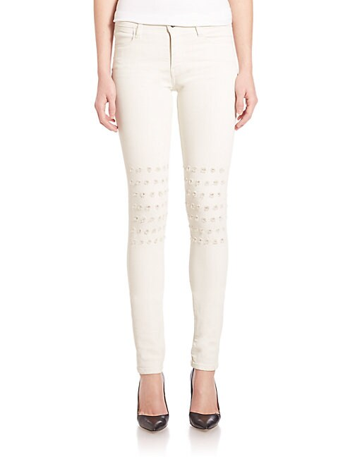 Alveoles Rush Embroidered Skinny Jeans