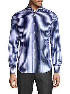 0d871088c95b Striped Long-Sleeve Button-Down Shirt BLUE. QUICK VIEW. Product image