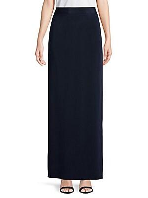 Silk Column Skirt