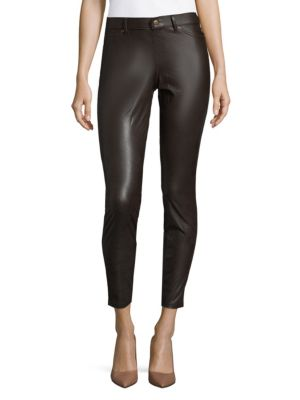 Hue  Fitted Leatherette Leggings