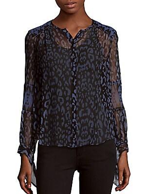 Leopard Printed Silk Top