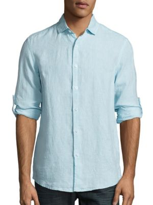 Saks Fifth Avenue  Classic Fit Linen Button-Down Shirt