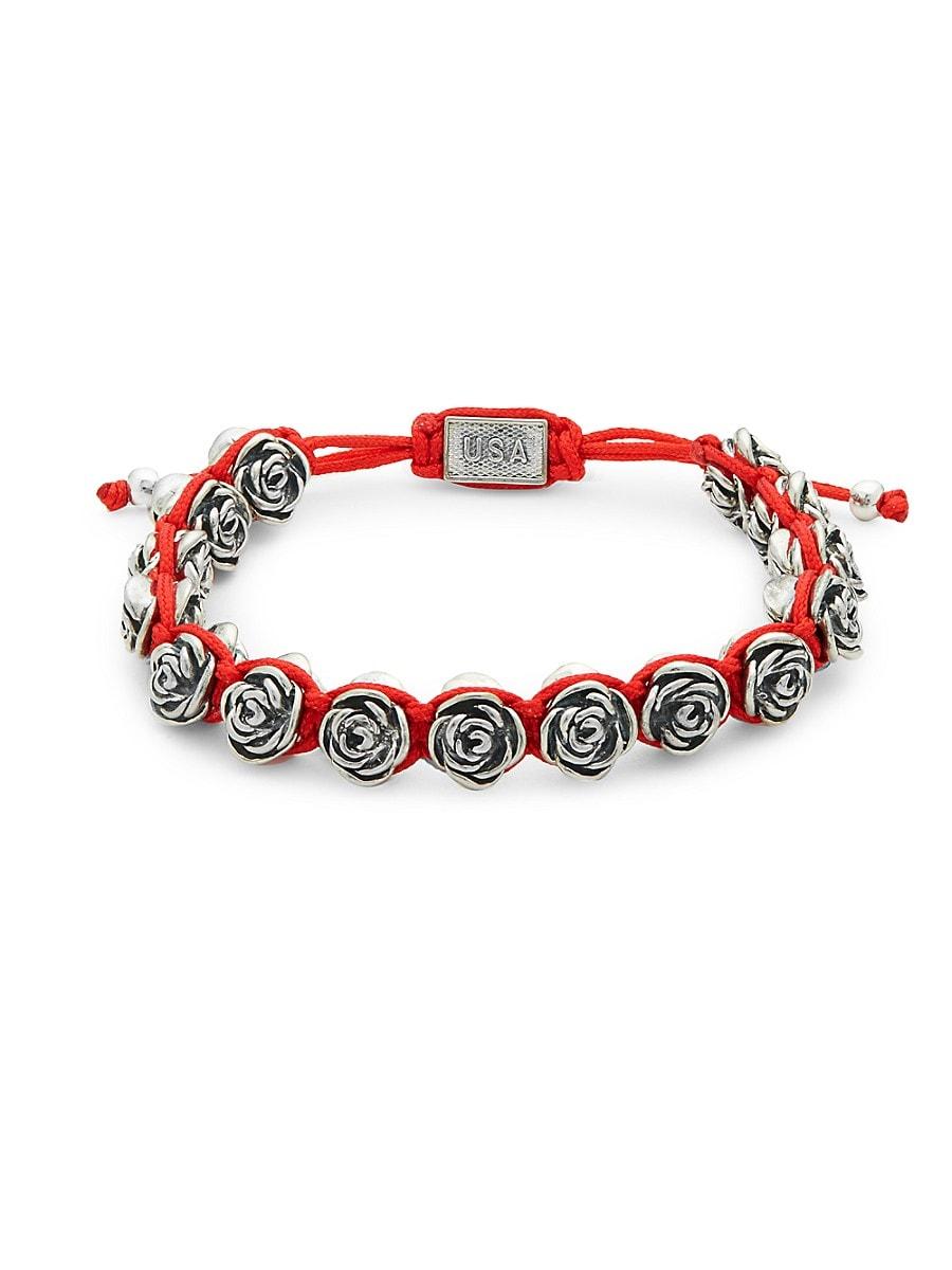Men's Macrame Rose Bracelet