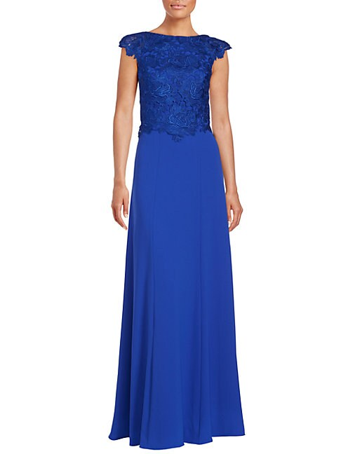 Crepe Evening Gown