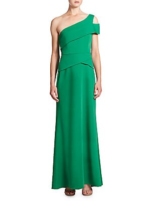 Cut-Out One-Shoulder Gown