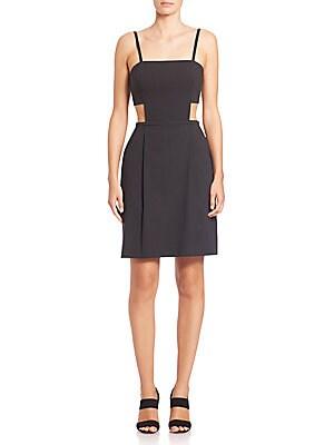 Cotton Poplin Cutout Dress