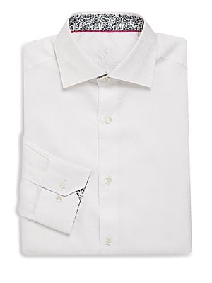 Cotton Shaped-Fit Dress Shirt