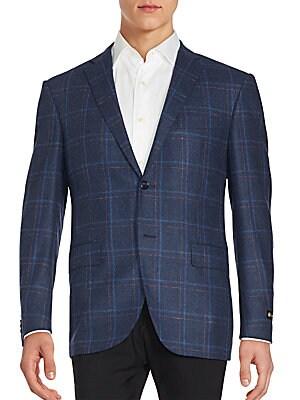 Long Sleeve Windowpane Jacket