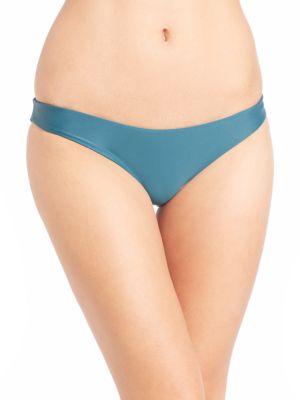 MIKOH SWIMWEAR Zuma Scoop Bikini Bottom in Jade
