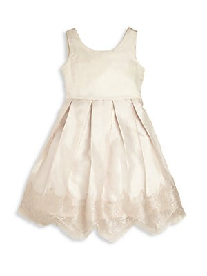 LITTLE GIRL'S CHANTILLY LACE-TRIMMED DRESS