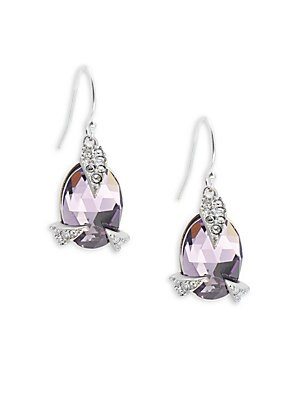 Rounded Crystal Earrings