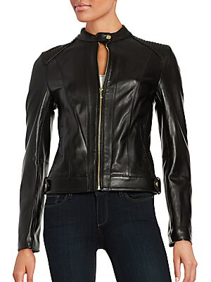 Cole Haan Quilted Leather Moto Jacket Saksoff5th