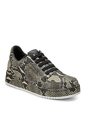 Animal Printed Leather Sneakers