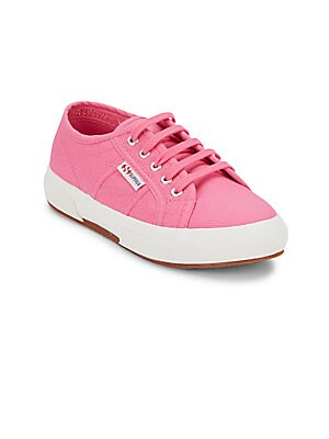 GIRL'S COTTON LACE-UP SNEAKERS