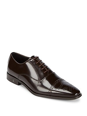 d0156cfd30b Versace Collection - Spazzolato Leather Oxford Shoes - saksoff5th.com