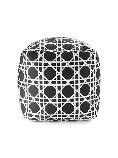 Dominique Geometric-Patterned Pouf