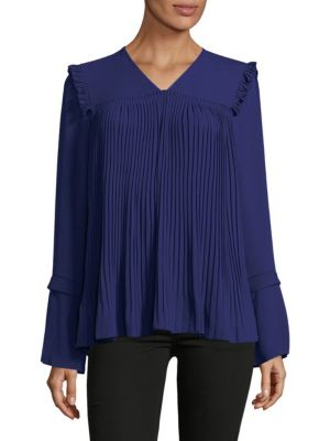 See By Chloé  PLEATED WOVEN BLOUSE