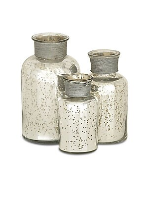 Speckled Glass Apothecary Jars