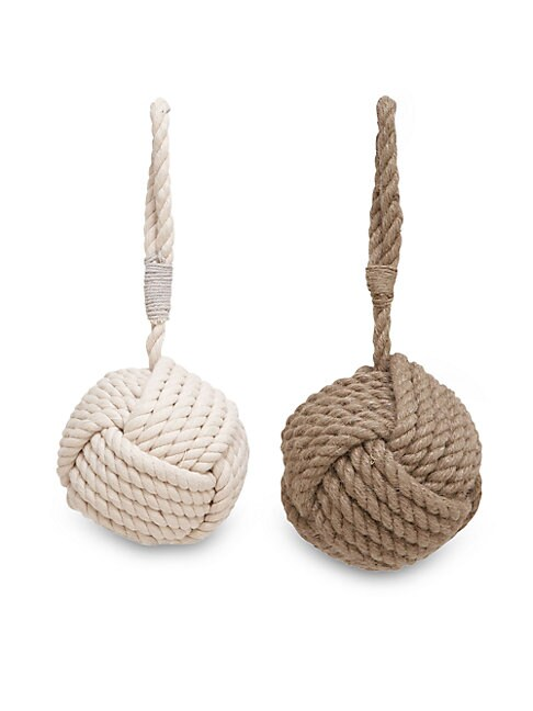 Two-Piece Knotted Jute Doorstop Set