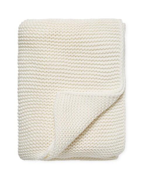 Knit Cotton Throw Blanket