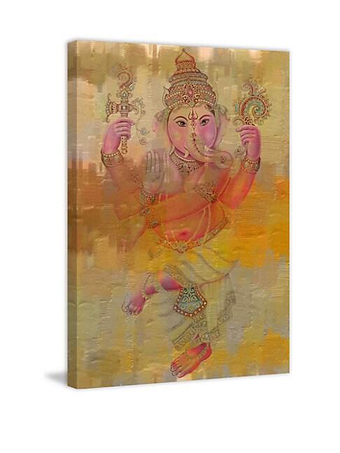 Elephant Dance Wrapped Canvas Print