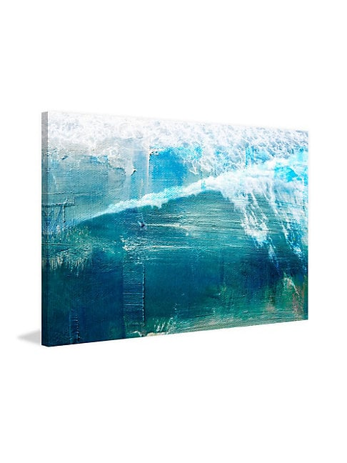 White Splashing Surf Wrapped Canvas Print