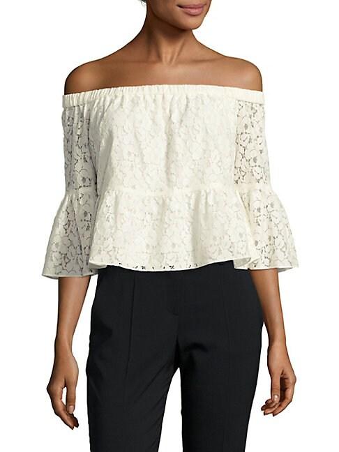 Cotton-Blend Lace Top