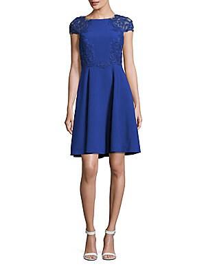 Boatneck Fit-&-Flare Dress