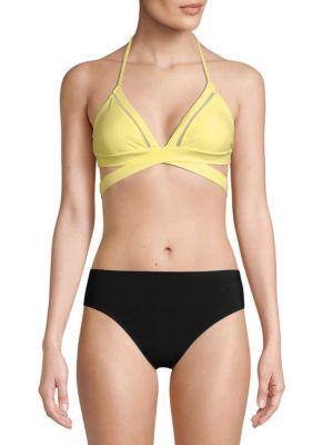 6 Shore Road La Playa Floral Wrap Bikini Top