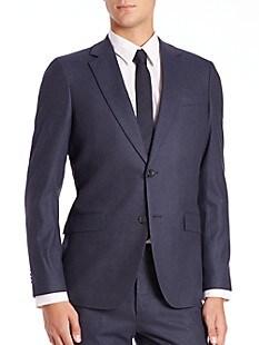 띠어리 Theory Slim-Fit Malcolm Wool Jacket,BLUE