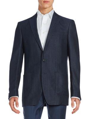John Varvatos  Long-Sleeve Wool-Blend Jacket