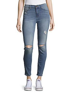 Midrise Cropped Skinny Jeans
