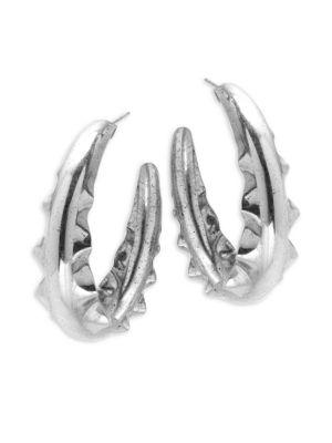 Saks Fifth Avenue  WAVE-PRESSED HOOP EARRINGS