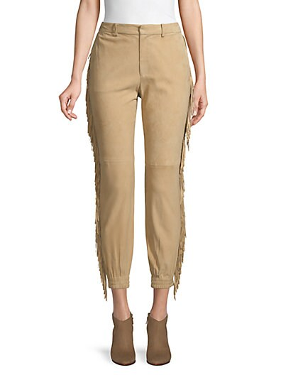 efc9b54748593 Polo Ralph Lauren Frayed Cropped Suede Pants ...