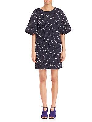 Boucle Flared Sleeve Dress