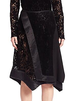 Faux Wrap Lace Skirt