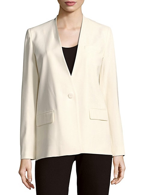 MAJE LONG-SLEEVE SOLID JACKET