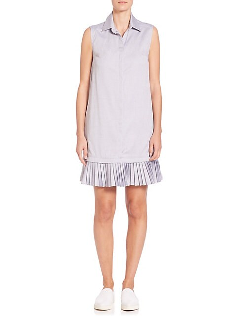 Prose & Poetry ARDEN PLEATED HEM SHIRTDRESS