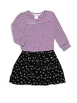 LIttle Girl's & Girl's Mixed-Print Dress
