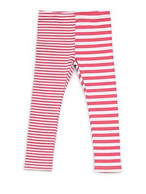 Little Girl's & Girl's Striped Leggings