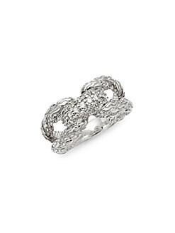 John Hardy - Classic Chain Sterling Silver & Diamond Ring